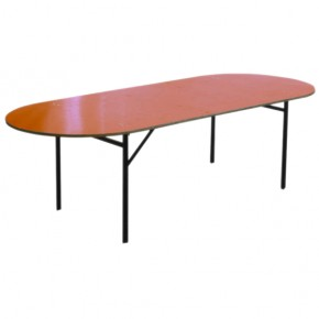 Table ovale pliante